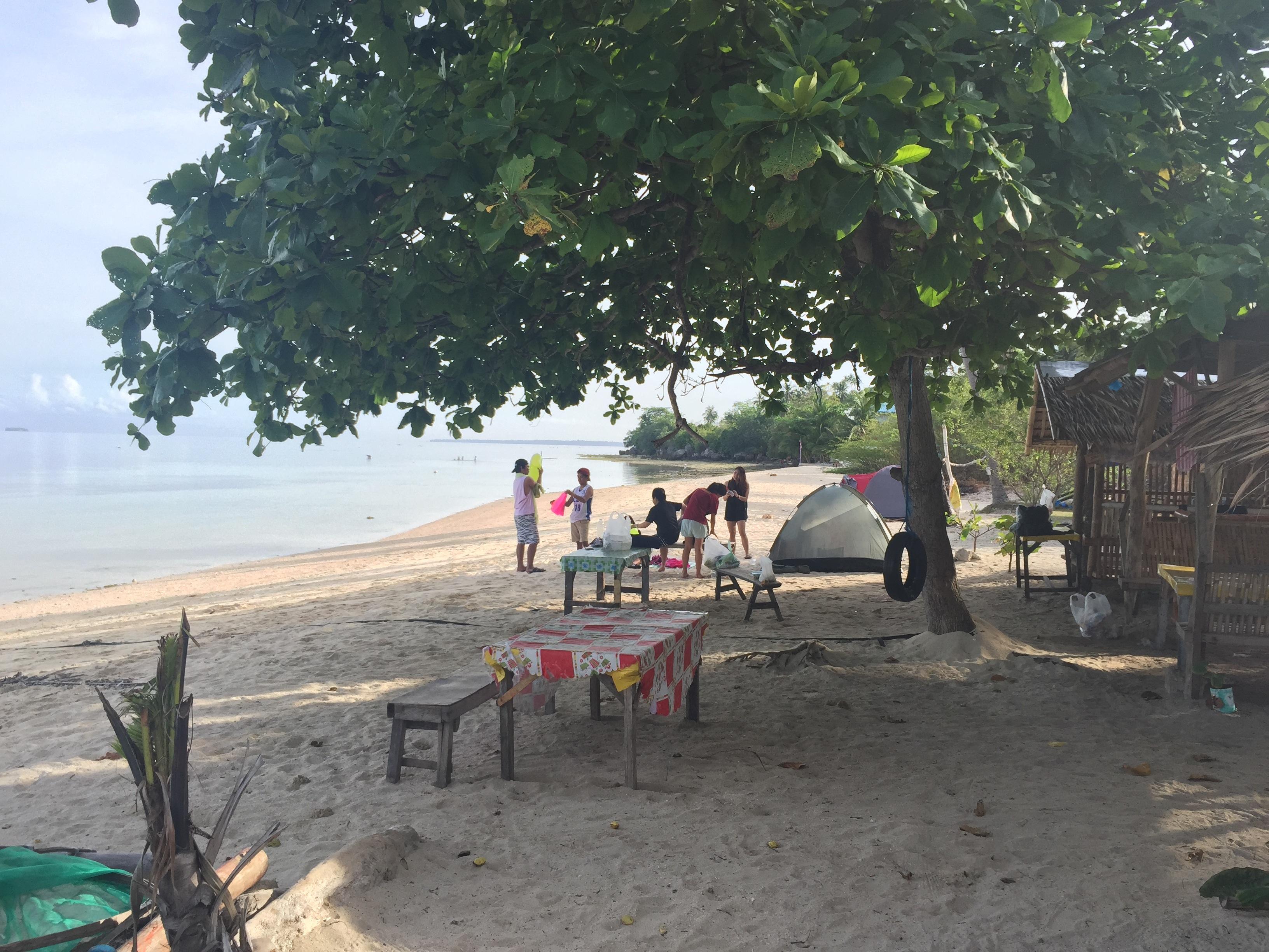 Camping at Lambug Beach