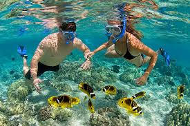 Snorkeling at Lambug Beach, Badian, Cebu, Philippines